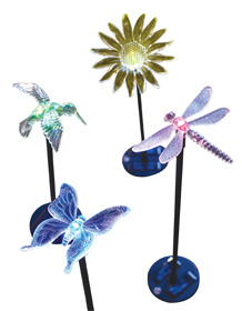 Solar Garden Accent Acrylic Stake Lights