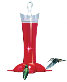 Birdscapes� Deluxe Rose Petal Hummingbird Feeder